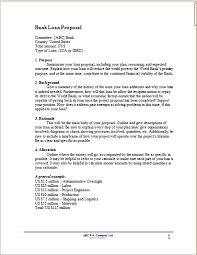 bank loan proposal template proposal templates