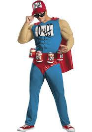 Radioactive Halloween Costume Duffman Muscle Costume Simpsons Superhero Escapade Uk