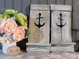 Beach Homes Decor by Two Nautical Anchor Pallet Wall Sconce Beach House Decor Sconce