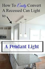 changing recessed light to chandelier change recessed light to pendant elegant replace with a fixture hgtv