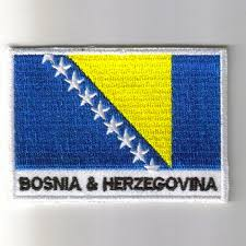 Flag Of Bosnia Embroidered Patches Country Flag Bosnia Patches Iron On Badges