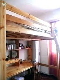 bureau 2 places lit mezzanine 2 places en bois lit mezzanine en bois ikea lit