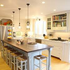 Farmhouse Kitchen Design Pictures Long Narrow Kitchen With Island Design Ideas Pictures Remodel