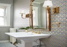 wallpaper for bathrooms ideas wallpaper for bathroom walls home design ideas and inspiration