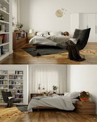 White Bedroom Bedside Cabinets Bedroom Platform Bed With Gray Tufted Headboard And Integrated