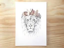 lion print king of the jungle lion print a3 contemporary art print of
