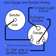 golf cart gas tank sender unit and gauge from the golf car catalog