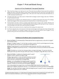 physics chapter 7 answers kinetic energy force