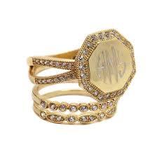 monogram rings gold monogram gold rings monogram jewelry be monogrammed