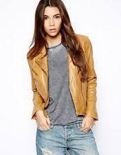 light brown leather jacket womens tan leather biker jacket ebay