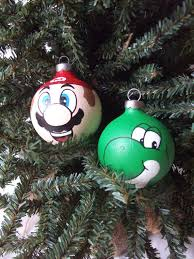 gamer tree toppers mario ornaments