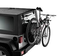 thule jeep wrangler amazon com thule 963pro spare me 2 bike spare tire bike carrier