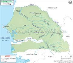 africa map senegal river map