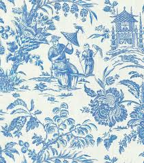 Home Decor Designer Fabric Home Decor Print Fabric Williamsburg Asian Arcadia Sapphire Joann