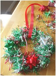 christmas wreathe craft activity for kids