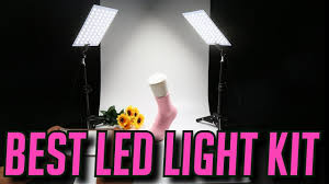 led studio lighting kit best led lights for youtube ginson 132 led studio video lighting kit
