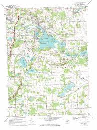 Michigan Dnr Lake Maps by Michigan Center Lake Map Michigan Map