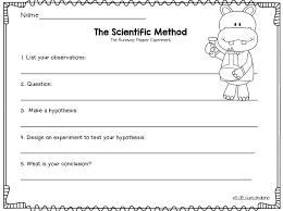 scientific method worksheet first grade pictures to pin on