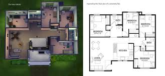 Floor Plan Of A Bedroom Image Result For Sims 3 House Blueprints 4 Bedrooms Sims