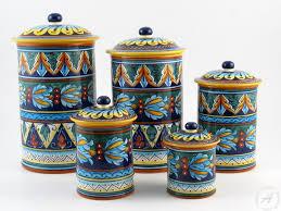italian kitchen canisters italian kitchenware deruta ceramics eugenio ricciarelli