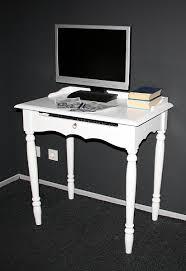 Pc Tisch Landhaus Schreibtisch Pc Tisch Weiß Lackiert Holz Massiv Bei Casa