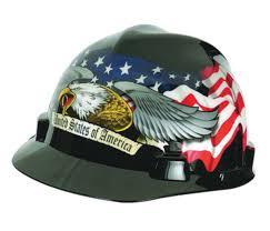 Usa Flag Hats Airgas Msa10079479 Msa Black Red And White Freedom Series V