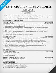 Salon Manager Resume Film Production Resume Template Resume Builder