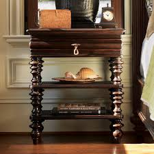 Tommy Bahama Royal Kahala Starlight Mirrored  Drawer Nightstand - Tommy bahama style furniture