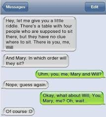 Funny Texting Jokes - funny text with a hidden trap