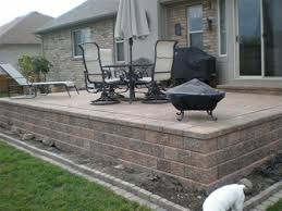 Raised Paver Patio Beautiful Raised Patio Ideas Brick Paver Designs Paver Steps