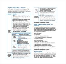 ford truck maintenance schedule maintenance schedule templates 21 free word excel pdf format