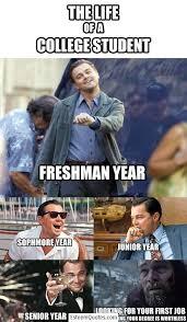 Leonardo Di Caprio Meme - leonardo dicaprio college meme esteem quotes
