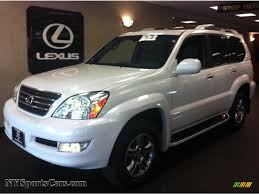 lexus gx470 pictures 2009 lexus gx 470 in blizzard white pearl 174043 nysportscars
