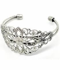 silver antique bracelet images Vintage style antique silver filigree cuff bracelet 637x jpg&a
