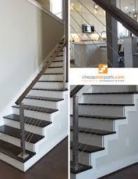 diy wire railing home pinterest railing ideas modern stairs