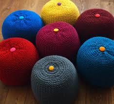 ottomans crochet pouf ottoman pattern free knitted blush pink