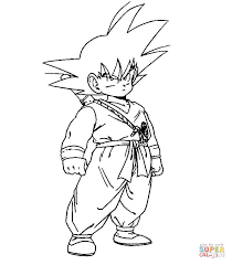 dbz coloring free printable coloring pages