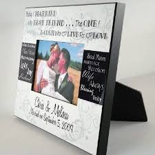 personalized wedding photo frame personalized today i married my best friend wedding photo frame
