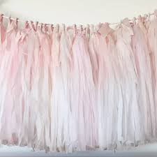 dyed ombré tissue tassel garland with silk ribbon by pompom