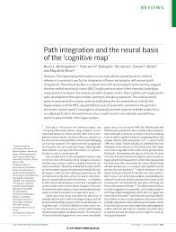 Cognitive Map Path Integration And The Neural Basis Of The U0027cognitive Map U0027 Pdf