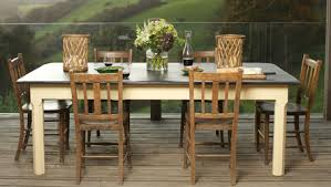 slate dining table set shining slate top dining table set villagio trestle counter height
