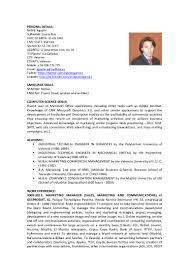 Chemist Resume Garcia Agustin Cv English
