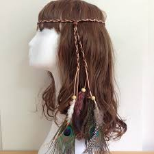 festival headbands accessories jewelry boho weave bird feather tassel festival