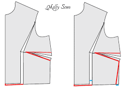 dress pattern without darts how to do a bust adjustment melly sews