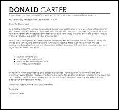 vet cover letter 14 front desk receptionist employee leaving