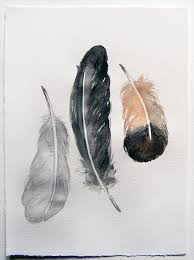 Feather Home Decor Neutral Feathers Painted By Watercolors Art Painting