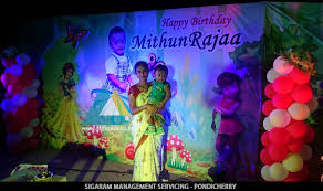 images of birthday decoration at home birthday party decoration of mithun rajaa house roof top sigaram