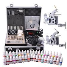 tattoo kit without machine complete tattoo kit 40 color ink 2 machine guns set lcd power supply