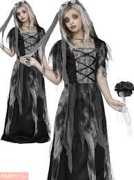 girls teen ghost bride costume zombie corpse halloween fancy dress