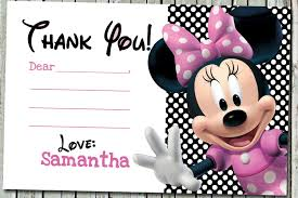 minnie mouse thank you cards awesome minnie mouse thank you card